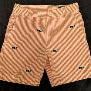 Boy's VV Red Seersucker Shorts
